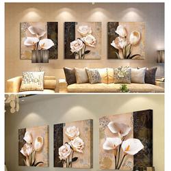 Bộ tranh treo tường hoa cổ điển 3 bức