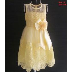 Đầm công chúa đính nơ cực xinh cho bé 8-30kg