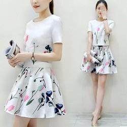 Set váy + áo họa tiết cao cấp