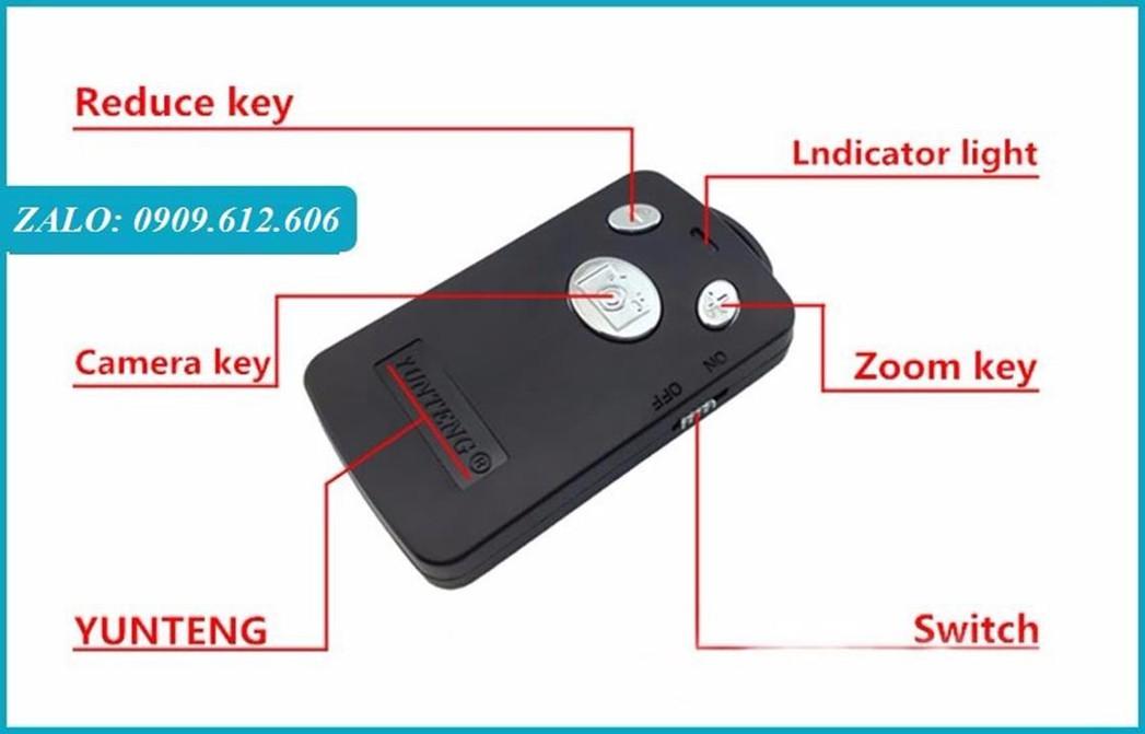 Gậy Chụp Hình YunTeng Bluetooth có remote sạc điện usb -1,25m 8