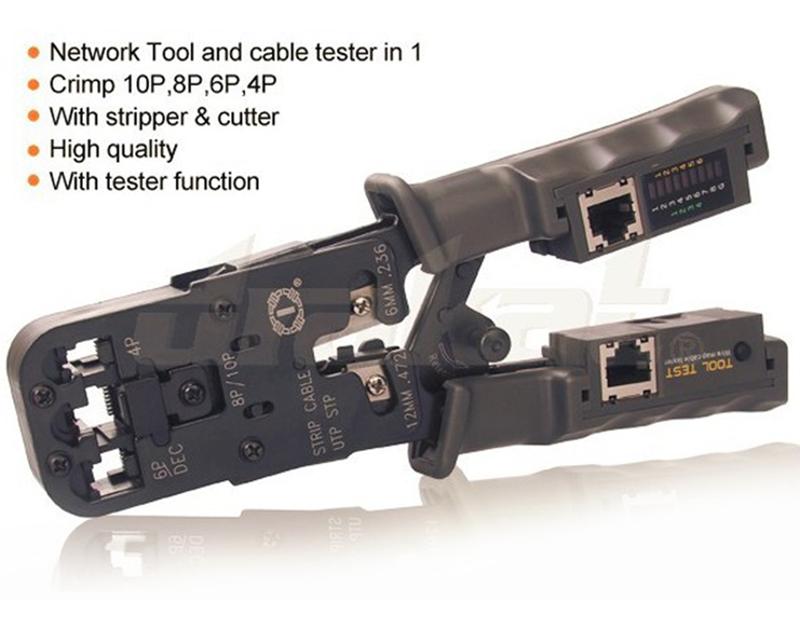 Kìm mạng đa năng RJ45, RJ11, RJ12 + Chức năng test dây mạng HT-022 9