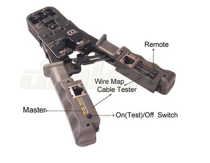 Kìm mạng đa năng RJ45, RJ11, RJ12 + Chức năng test dây mạng HT-022 10