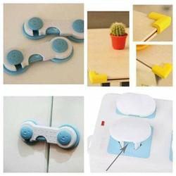 Bộ sản phẩm an toàn cho bé-nút bịt ổ điện chốt gài cửa và bọc cạnh bàn