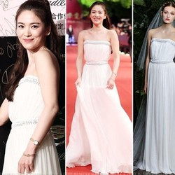 Đầm Dạ Hội Cúp Viền Ren Đẹp Như Song Hye Kyo hàng cao cấp 2 màu