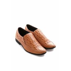 Giày tây nam Huy Hoàng vân cá sấu màu vàng TX7130
