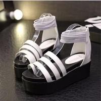 SD212W - Giày sandal nữ 3 dây thời trang Hàn Quốc - Doni86.com