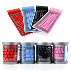 Bàn phím Dẻo Bluetooth cho điện thoại, laptop, máy tính bảng