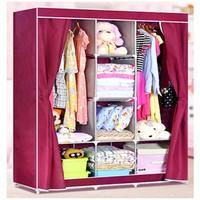 Tủ vải để quần áo 3 buồng 8 ngăn cao cấp