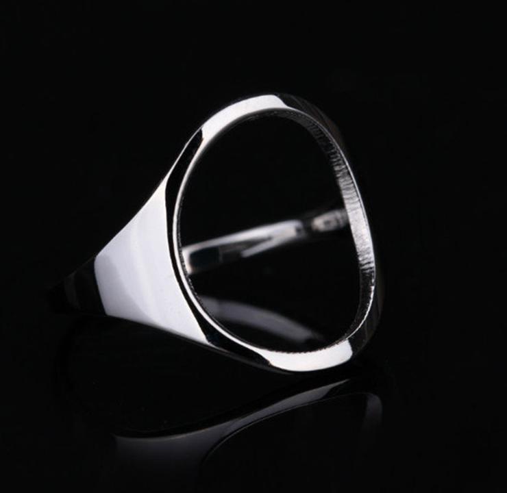 Nhẫn mặt Oval titan ko đen TITAN 955 2