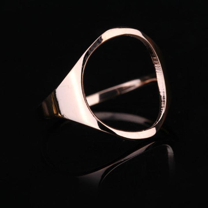 Nhẫn mặt Oval titan ko đen TITAN 956 2