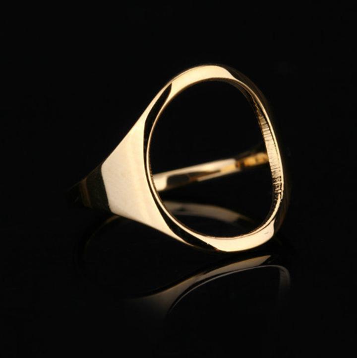 Nhẫn mặt Oval titan ko đen TITAN 957 2