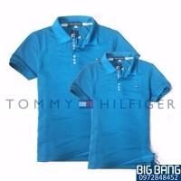 Big Bang - Áo đôi tommy hàng VNXK cao cấp màu xanh da