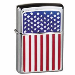 Bât lửa Zippo đắp nổi nguyên bản cờ Mỹ