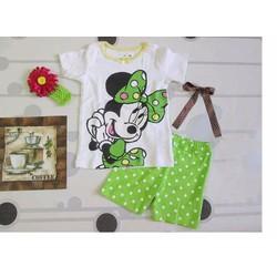 Bộ thun ngắn hình chuột Mickey hiệu Jumping Beans cho bé gái 3-8 tuổi