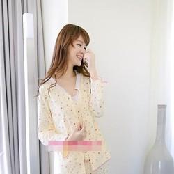 Đồ bộ mặc nhà pyjama hình bông hồng nhỏ xinh đẹp NN436