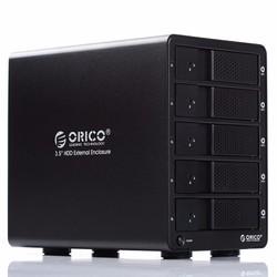 Hộp đựng hdd 5 khay Box hdd Orico 9558U3 hộp gắn thêm 5 ổ cứng
