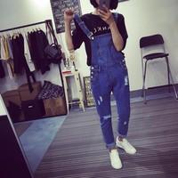 quần dài jeans yếm túi lớn nhỏ Mã: QD749