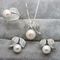 Bộ trang sức bạc gắn ngọc trai cao cấp