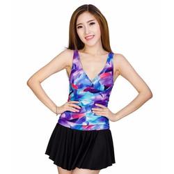 Đầm bơi cao cấp liền mảnh phối váy OPL01