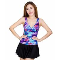 Đầm bơi nữ liền mảnh phối váy 159583A