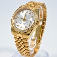 Đồng hồ Cơ Rolex đính đá cao cấp full gold RL626