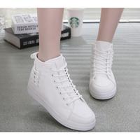 Giày thể thao nữ cổ cao HC White