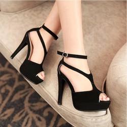 Giày cao gót quai đan chéo sành điệu - LN203