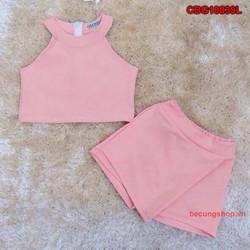 Bộ croptop quần giả váy cực xinh cho bé từ 1-8 Tuồi_CBG18839