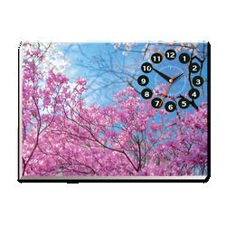 Tranh đồng hồ Tictac - Hoa đỏ