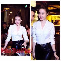 Áo Sơ Mi Tay Dài 2 Túi Giống Helen Thanh Thao HS-A323