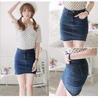 Chân váy jean - váy ngắn co giãn V702-6372