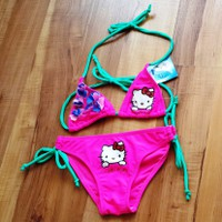 Đồ bơi bikini hello kitty màu hồng XN213