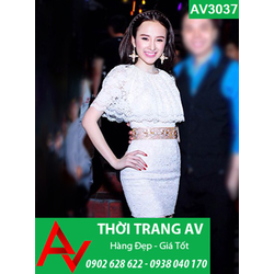Đầm ren body giống Angela Phương Trinh - AV3037