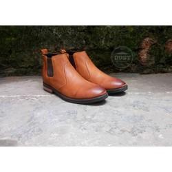 Giày tây Chelsea Boots nam da bò bụi bặm