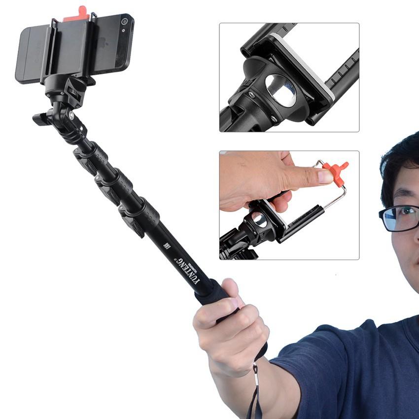 Gậy Chụp Hình YunTeng tự vệ Bluetooth có remote-dài 1m25 7