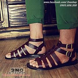 Giày sandal chiến binh quai da bò - Mã số: GSD1601