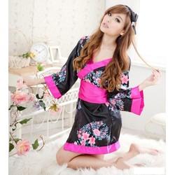 Đầm ngủ Kimono phong cách Nhật Bản.