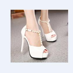 Hàng Loại I - Giày cao gót ngọc trai cao cấp thời trang Hàn
