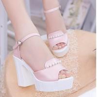 Giày Sandal đế đúc trang trí hạt cao cấp - LN207