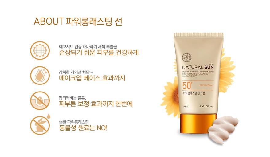 Kem Chống Nắng Không Trôi The Face Shop Power Long Lasting Sun Cream 4