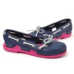 Giày crocs beachline boat màu xanh đen đế hồng