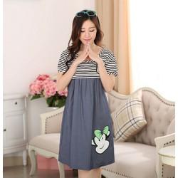 Váy Bầu Giả Jean Kết Hợp Cho Con Bú NX920