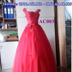 Áo cưới màu đỏ AC003