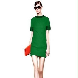 Đầm suông công sở ngắn tay thiết kế đơn giản sành điệu DSV206