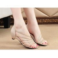 Giày sandal quai 6 quai ánh kim
