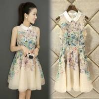 HÀNG CAO CẤP - Đầm xòe voan hoa Thiên Thảo