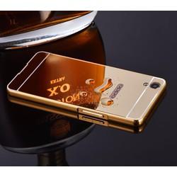OPPO R9 Plus - Ốp lưng viền kim loại kết hợp nắp nhựa tráng gương