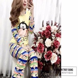 Đồ bộ nữ mặc nhà dài tay hình chú khỉ ngộ nghĩnh NN451