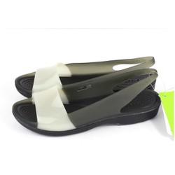 Sandal crocs colorblock flat màu đen