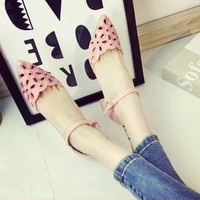 HÀNG NHẬP CAO CẤP - Giày gót vuông laze